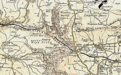 Old map of Monsal Dale in 1902-1903