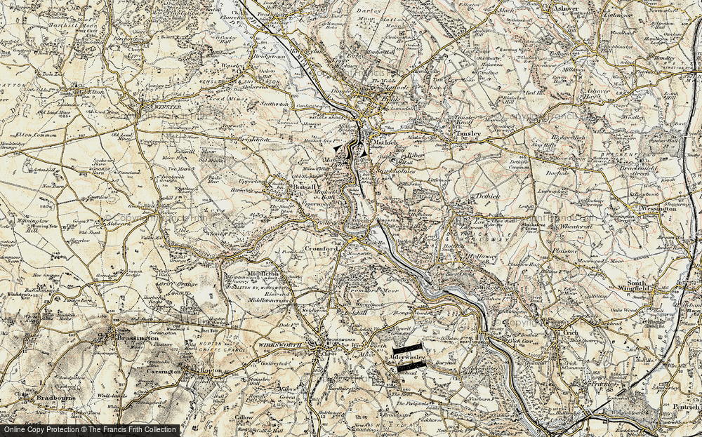 Old Map of Historic Map covering Wood End in 1902-1903