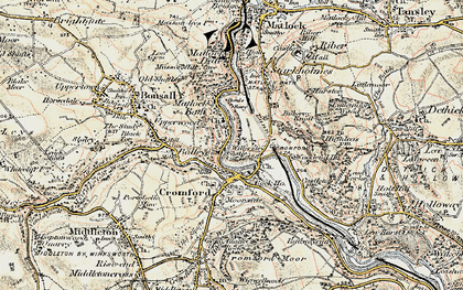 Old map of Wood End in 1902-1903