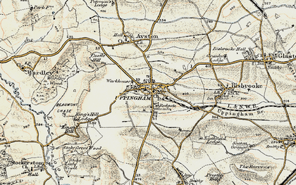 Old map of Uppingham in 1901-1903