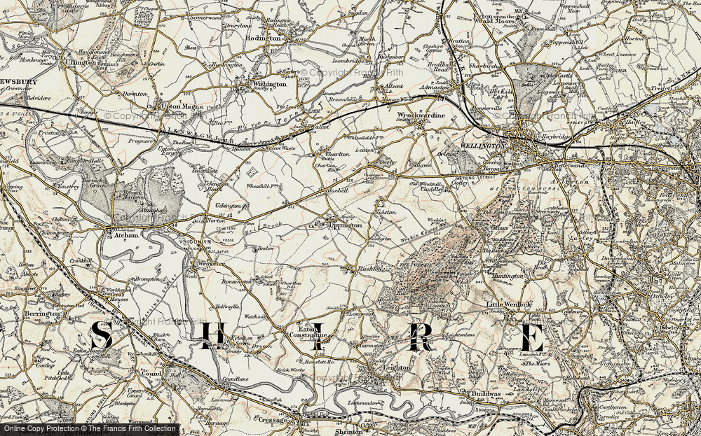 Old Map of Historic Map covering Aston in 1902