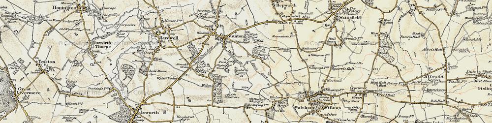 Old map of Wyken Wood in 1901