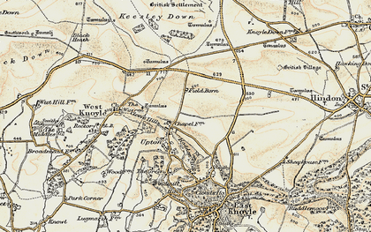 Old map of Willoughby Hedge in 1897-1899