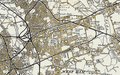 Old map of Upton in 1897-1902