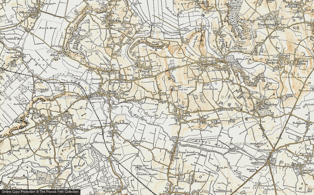Old Map of Upton, 1898-1900 in 1898-1900