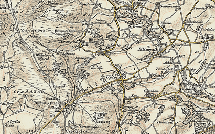 Old map of Upton in 1900