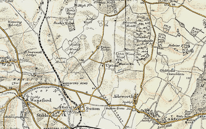 Old map of Ailsworth Heath in 1901-1902