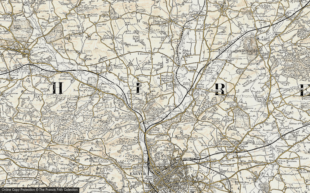 Old Map of Historic Map covering Woodrow in 1898-1900