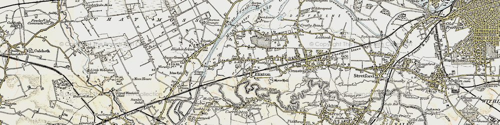 Old map of Urmston in 1903