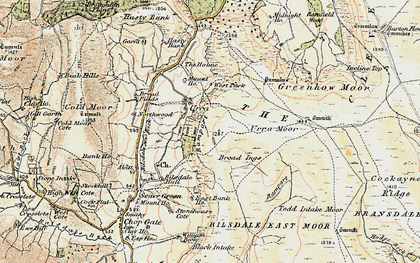 Old map of Todd Intake Moor in 1903-1904