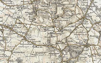 Old map of Ash Hill Ho in 1902-1903