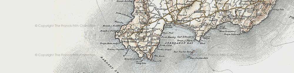 Old map of Tir Glyn in 1903