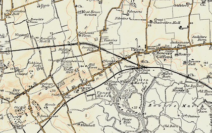 Old map of Vange in 1898