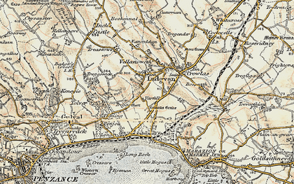 Old map of Varfell in 1900