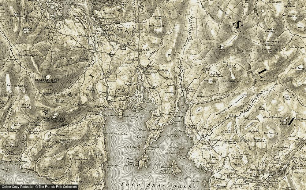 Old Map of Vatten, 1908-1911 in 1908-1911