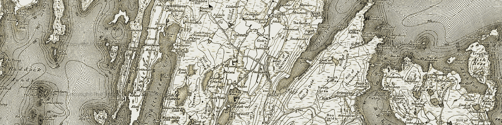 Old map of Law Ting Holm in 1911-1912