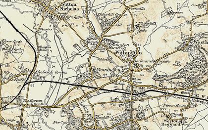 Old map of Nunnington in 1899-1901