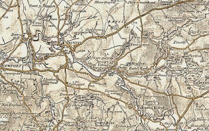 Old map of Velindre in 1901