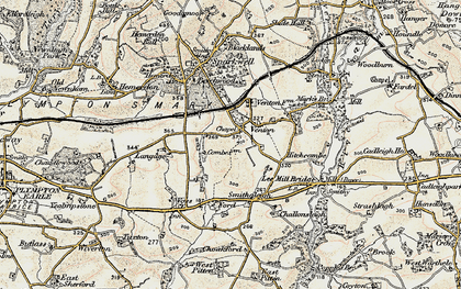 Old map of Langage in 1899-1900