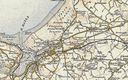 Old map of Ventonleague in 1900