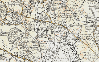 Old map of Verwood in 1897-1909