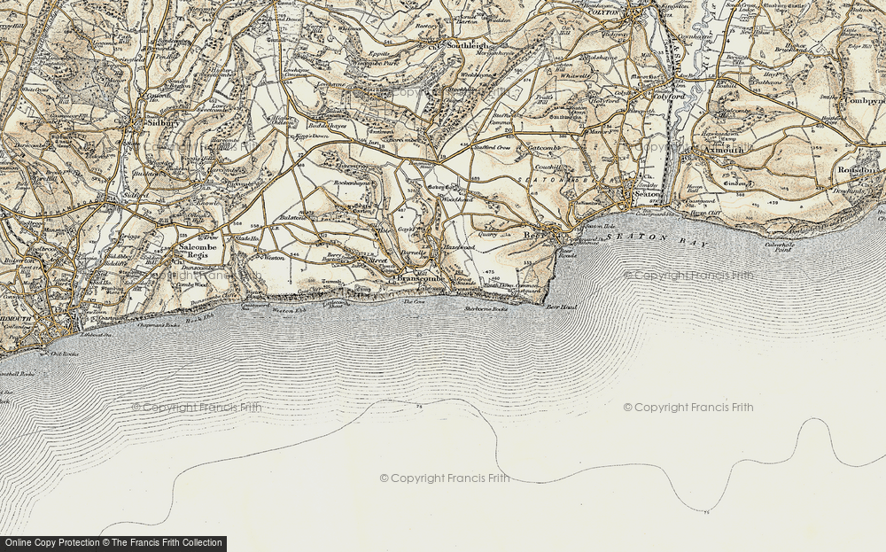 Old Map of Historic Map covering Woodhead in 1899
