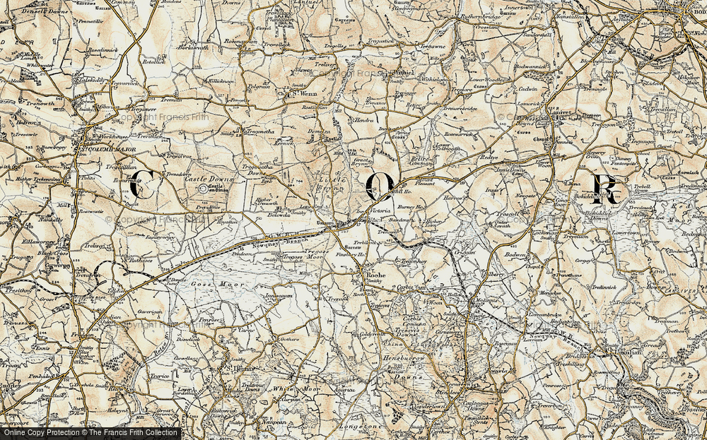 Old Map of Historic Map covering Lane End in 1900