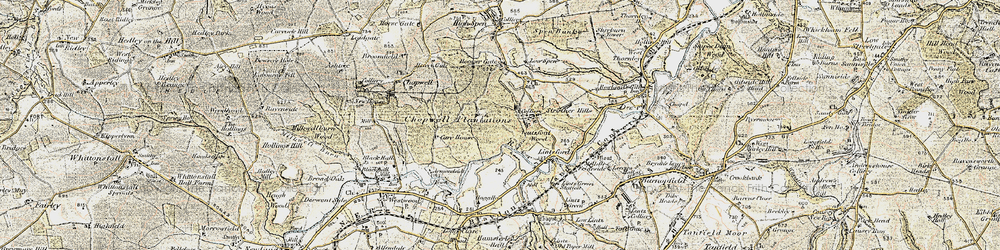 Old map of Victoria Garesfield in 1901-1904
