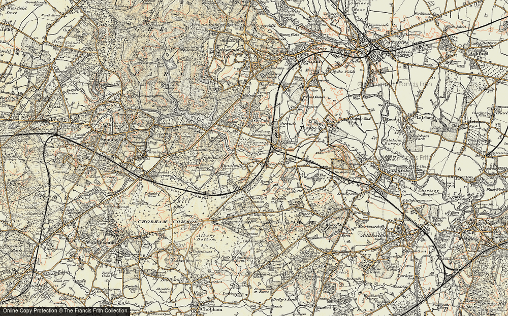 Old Maps Of Virginia Water Francis Frith