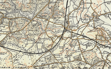 Old map of Virginia Water in 1897-1909