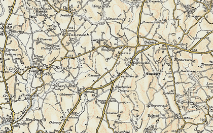 Old map of Viscar in 1900