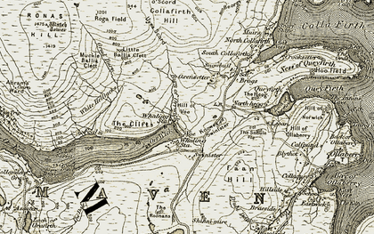 Old map of White Helliacks in 1912