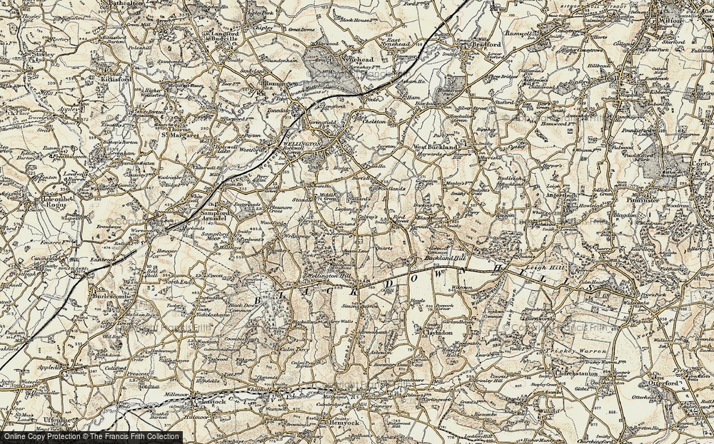 Old Map of Historic Map covering Legglands in 1898-1900