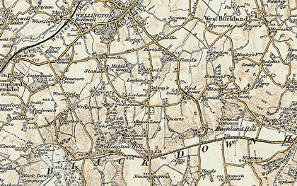 Old map of Legglands in 1898-1900
