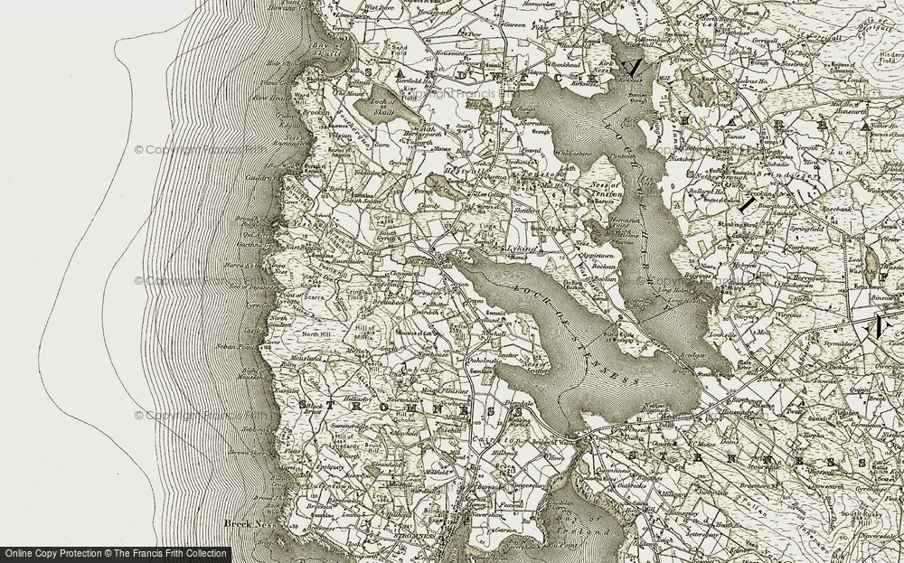 Old Map of Historic Map covering Lee in 1912