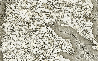 Old map of Linga Fiold in 1912