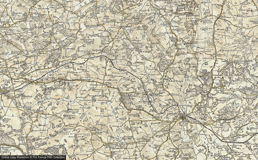 Old Map of Historic Map covering Wiggall in 1899-1902