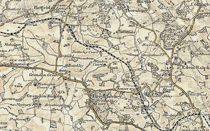 Old map of Wiggall in 1899-1902