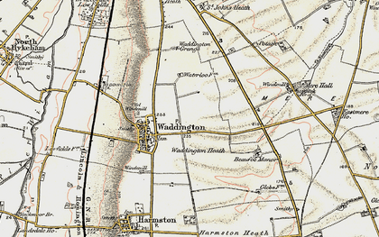 Old map of Waddington in 1902-1903