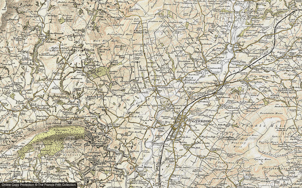 Old Map of Historic Map covering Backridge Fm in 1903-1904