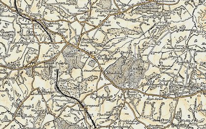 Old map of Wadhurst in 1898