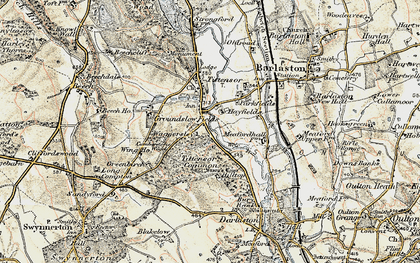Old map of Tittensor Chase in 1902