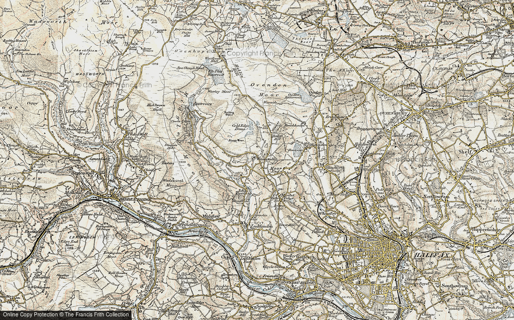 Old Map of Wainstalls, 1903 in 1903