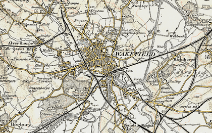 Old map of Wakefield in 1903
