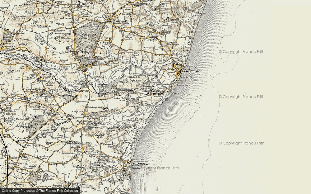 Old Map of Historic Map covering Tinker's Barn in 1901-1902