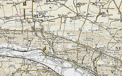 Old map of Walbottle in 1901-1903