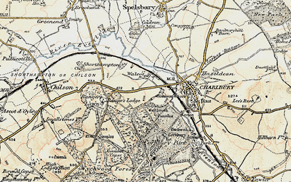 Old map of Wychwood Forest in 1898-1899