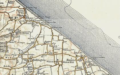 Old map of Walcott in 1901-1902