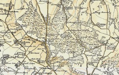 Old map of Walderslade in 1897-1898