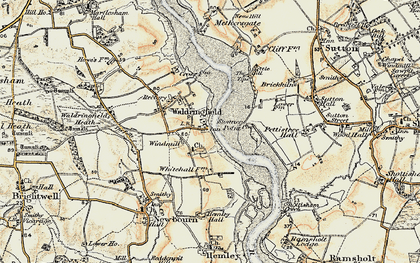 Old map of Waldringfield in 1898-1901